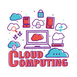 Infographic elements for Cloud Computing. Stock Photos