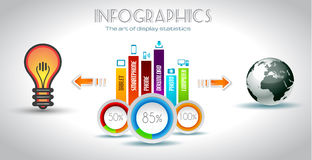 Infographic elements - Cloud and Technology Royalty Free Stock Photos
