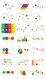 Infographic Elements Collection - Business Vector Illustration in flat design style for presentation, web, or advertisement. Stock Photos