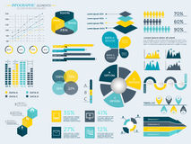 Infographic Elements Collection. Business Vector Illustration for presentation, booklet, website,  diagram, banner, number options, workflow layout or web Royalty Free Stock Photo