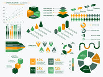 Infographic Elements Collection. Business Vector Illustration for presentation, booklet, website,  diagram, banner, number options, workflow layout or web Stock Photo