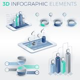 3D Infographic Elements Royalty Free Stock Photos