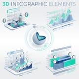 3D Infographic Elements Stock Photo
