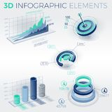 3D Infographic Elements Royalty Free Stock Photography