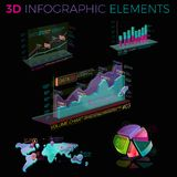 3D Infographic Elements. Infographic elements collection, corporate vector 3D illustration Royalty Free Stock Images