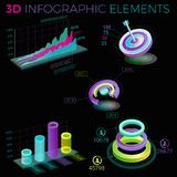 3D Infographic Elements. Infographic elements collection, corporate vector 3D illustration Royalty Free Stock Photography