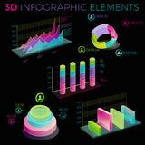 3D Infographic Elements Stock Photography