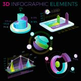 3D Infographic Elements Stock Photos