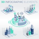 3D Infographic Elements. Infographic elements collection, corporate vector 3D illustration Stock Image