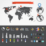 Infographic elements collection Royalty Free Stock Image