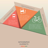 Infographic Elements Colorful Triangle. Infographic Elements in Triangle Shape and 3 segments. Can be used for presentation,web design, workflow or graphic Stock Image
