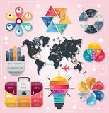 Infographic Elements and Communication Concept Stock Photography