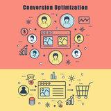 Infographic elements for Conversion Optimization. Royalty Free Stock Photo