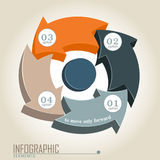Infographic elements. 3D Infographic elements in the form of arrows royalty free illustration
