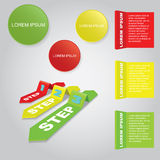 Infographic elements. 3d Infographic elements. Vector illustration. Can be used for workflow layout, banner, number options, step up options, web design Stock Image