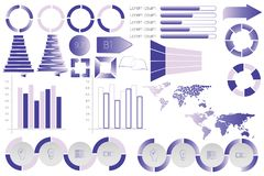 Infographic elements data visualization vector design template. Can be used for steps, options, business processes, workflow, diagram, flowchart concept Royalty Free Stock Photo