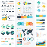 Infographic elements data visualization vector design template. Can be used for steps, options, business processes, workflow, diagram, flowchart concept Stock Photography