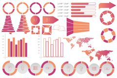 Infographic elements data visualization vector design template. Can be used for steps, options, business processes, workflow, diagram, flowchart concept Stock Photo