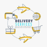 Infographic elements for Delivery Services. Stock Photography