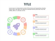 Infographic template chart with four step Stock Photo
