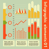 Infographic elements with different information Royalty Free Stock Photo