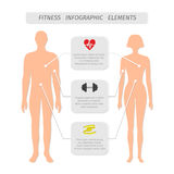 Infographic elements for fitness sports Royalty Free Stock Image