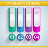 Infographic elements in flat colors. Royalty Free Stock Photo