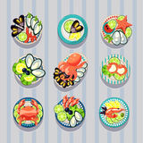 Infographic Elements Food Business Seafood Stock Photo