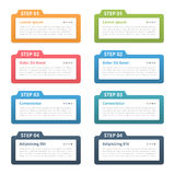 Infographic Elements - Four Steps Royalty Free Stock Photography