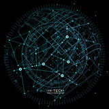 Infographic elements. futuristic user interface. Abstract polygonal space low poly dark background with connecting dots and lines. Stock Images
