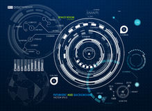 Infographic elements. futuristic user interface HUD. Abstract background with connecting dots and lines. Connection. Structure. Vector science background Royalty Free Stock Photos