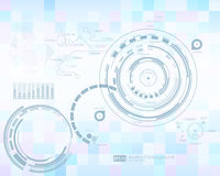 Infographic elements. futuristic user interface HUD. Abstract background with connecting dots and lines. Connection. Structure. Vector science background Royalty Free Stock Photo