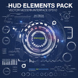 Infographic elements. futuristic user interface HUD UI UX. Abstract background with connecting dots and lines. Connection structure. Vector science background Stock Photos