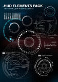 Infographic elements. futuristic user interface HUD UI UX. Abstract background with connecting dots and lines. Connection structure. Vector science background Royalty Free Stock Photo