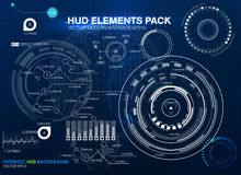 Infographic elements. futuristic user interface HUD UI UX. Abstract background with connecting dots and lines. Connection structure. Vector science background Royalty Free Stock Photography