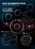 Infographic elements. futuristic user interface HUD UI UX. Abstract background with connecting dots and lines. Connection structure. Vector science background Stock Photography