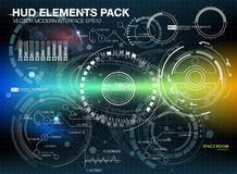 Infographic elements. futuristic user interface HUD UI UX. Abstract background with connecting dots and lines. Connection structure. Vector science background Stock Photo