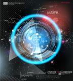 Infographic elements. futuristic user interface HUD UI UX. Abstract background with connecting dots and lines. Vector modern interface. Business abstract Royalty Free Stock Photo