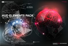 Infographic elements. futuristic user interface HUD UI UX. Abstract background with connecting dots and lines. Connection structure. Vector science background Stock Image