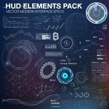 Infographic elements. futuristic user interface HUD UI UX. Abstract background with connecting dots and lines. Vector modern interface. Business abstract Royalty Free Stock Photography