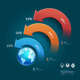 Infographic elements with global map. Royalty Free Stock Photography