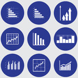 Infographic elements. Graphs, pie charts. Items for business, statistics and reports, Stock Photo