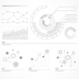 Infographic elements in grey Stock Image