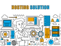 Infographic elements for Hosting Solution concept. Stock Photos