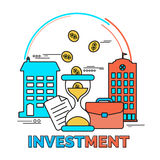 Infographic elements for Investment. Royalty Free Stock Photography