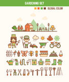 Infographic elements for kids about gardening Royalty Free Stock Image