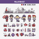 Infographic elements for kids about pollution Stock Photo