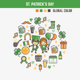 Infographic elements for kids about saint patrick's day Royalty Free Stock Photos