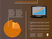 Infographic elements with laptop and diagram. Background Stock Photo