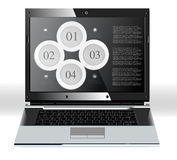 Infographic elements with laptop Stock Image